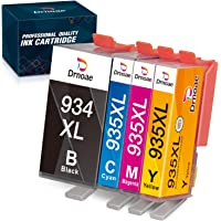 Drnoae Compatible Ink Cartridge Replacements for HP 934XL 935XL 934 935 Use with HP OfficeJet Pro 6830 6230 6815 6812…