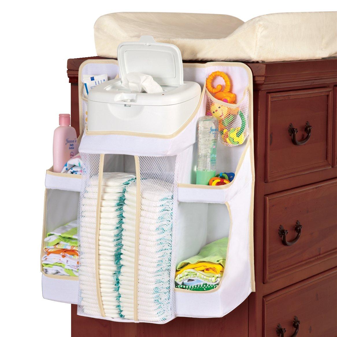 Amazon.com : Dexbaby Diaper Caddy and Nursery Organizer for Baby's  Essentials : Nursery Hanging Organizers : Baby