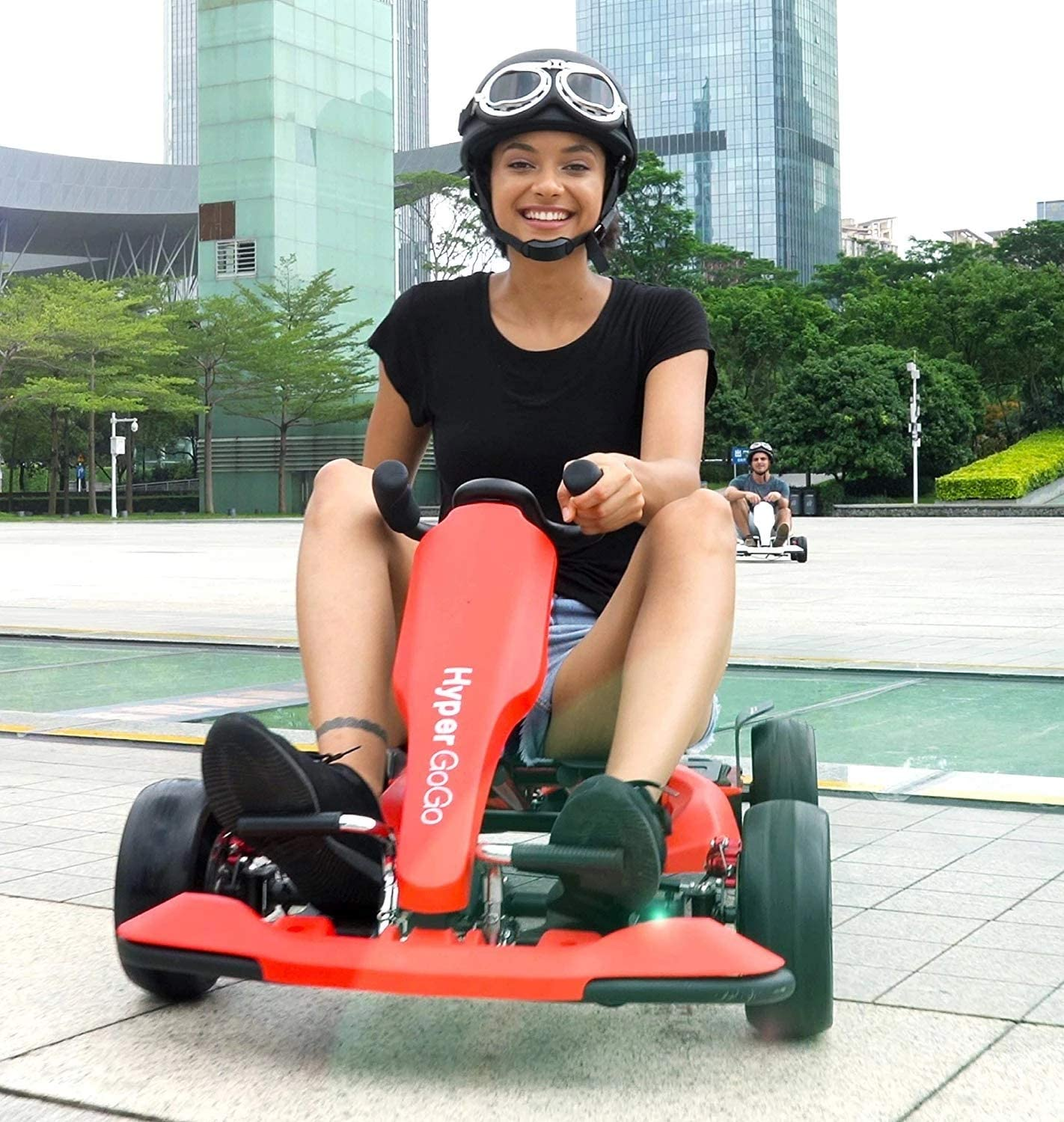 Gyrocopters Universally Compatible Hyper GoGo GoKart Hoverboard Attachment with Shock Absorbers