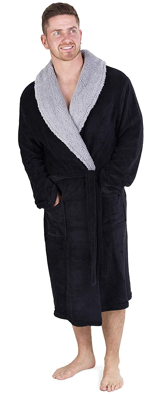 CityComfort Luxury Super Soft Men Dressing Gown Mens Bathrobe