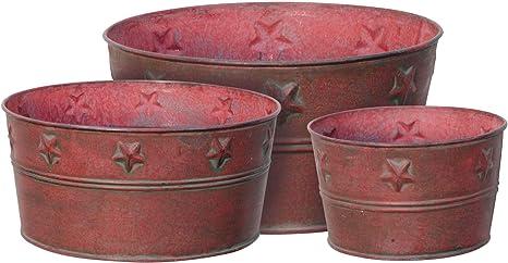 Rustic Metal Bowl Set
