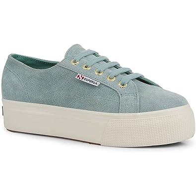 Amazon.com | Superga 2790 Suew Womens Shoes UK 7 Green Lt Sage | Fashion  Sneakers