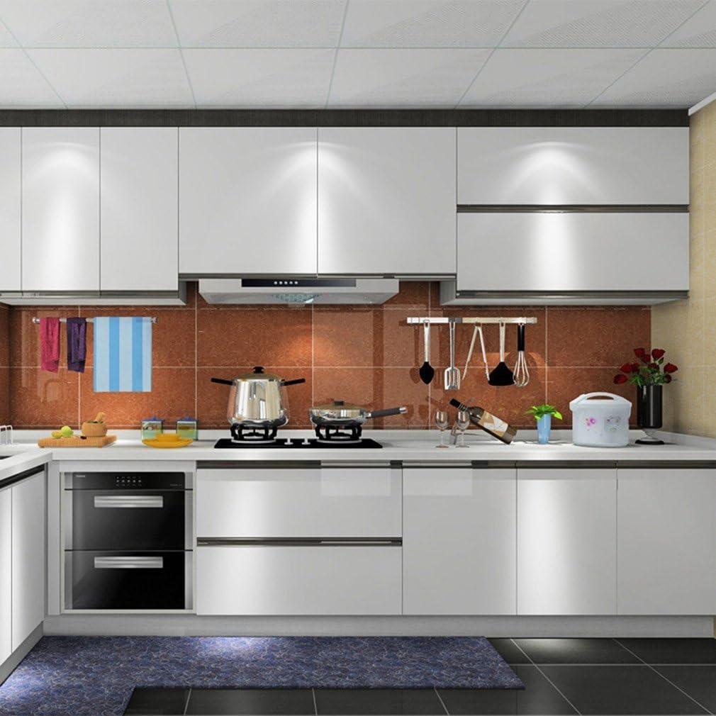 Hode Papel Adhesivo para Muebles Gris 30cmX3m Impermeable Vinilo Decorativo Papel Pintado Cocina Baño Mesa Armario Encimera: Amazon.es: Hogar