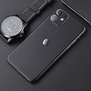 Ultra-Thin Skin Wrap for iPhone 11,Tectom Leather Strip Full Edge Sides Back Protective Skins Sticker Decals for iPhone 11