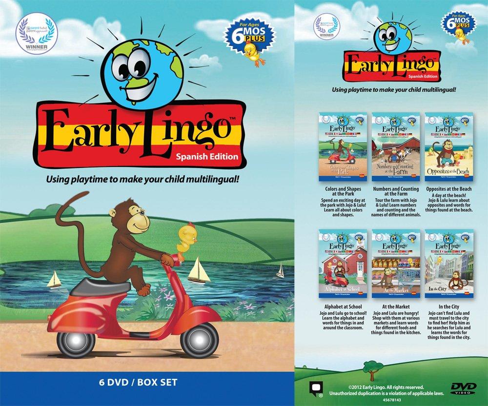 Amazon.com: Early Lingo Spanish 6-DVD Box Set: Toys & Games