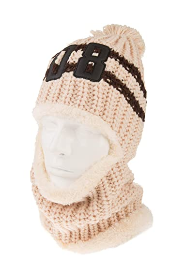 37df8c2dfc9 Spikerking Womens Thick Knit Balaclava Beanie Windproof Ski Face Mask Winter  Hat