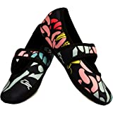 Nufoot Betsy Lou Women's Shoes, Best Foldable & Flexible Flats, Slipper Socks, Travel Slippers & Exercise Shoes, Dance Shoes, Yoga Socks, House Shoes, Indoor Slippers, Navy Chains, X-Large