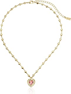 product image for 1928 Jewelry Gold-Tone Pink Genuine Swarovski Crystal Heart Pendant Necklace, 18""