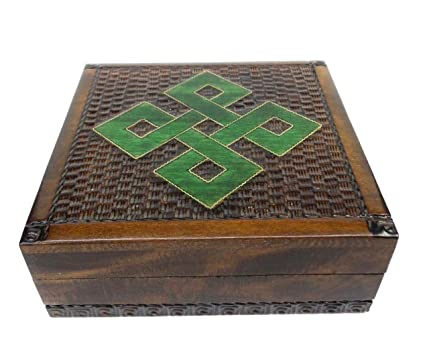 Amazon Celtic Knot Design Wood Trinket Box Decorative Hinged Enchanting Decorative Hinged Boxes
