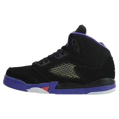 18b6d6198035c8 ... inexpensive jordan retro 5 gp girls big kids running shoes black ember  glow fierce purple 88ff3