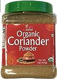 Jiva Organics Organic Coriander Powder 1 Pound Jar - 100% Natural & Non-GMO