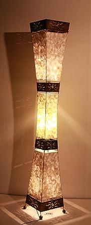 Lámpara de pie asiatica Padang Tiga shell/guscio (LA22-10/P ...