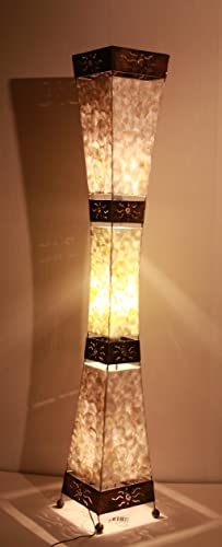 Asian floor lamp padang tiga shell la22 10p designer bali light asian floor lamp padang tiga shell la22 10p designer bali aloadofball Images