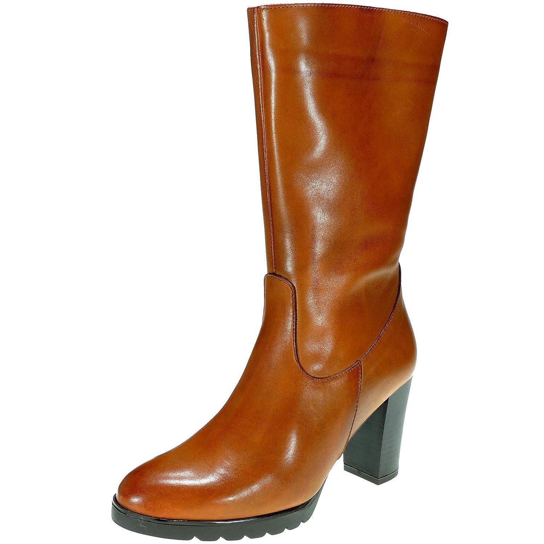 B.D.A. Bota Piel Media Caña y Cremallera Tacón 8CM para Mujer - Modelo 6339: Amazon.es: Zapatos y complementos