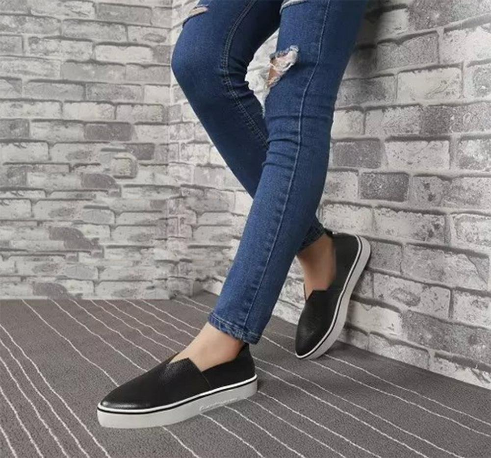 Aide chaussures chaussures bas occasionnels chaussures plat creux B079BRWGSB simple dames chaussures pointues ensembles pied usure chaussures chaussures d ascenseur Spring Mme Black ed48540 - piero.space