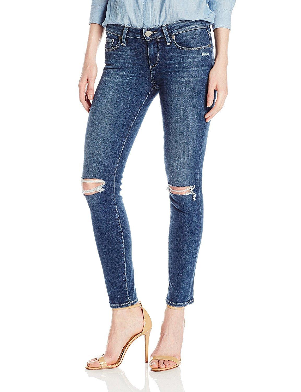 PAIGE Women's Verdugo Ankle Jeans, Dedee Destructed, 27 by PAIGE