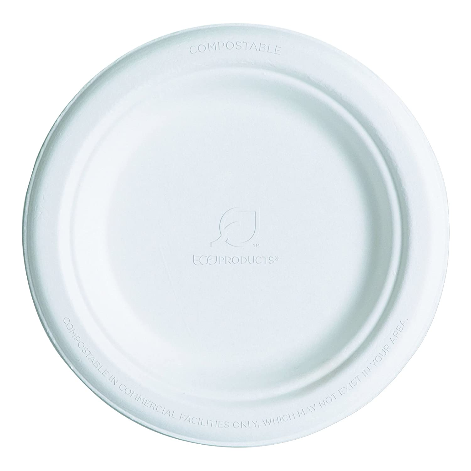 Eco-Products Compostable 6 inch Sugarcane Plates - Case of 1000 - EP-P016