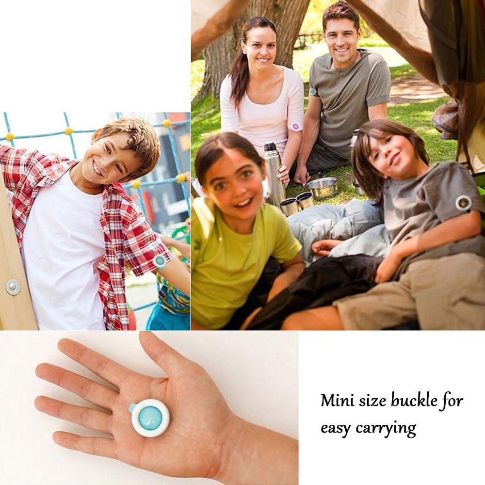Clips de Repelente de Mosquitos para Adultos de los ni/ños al Aire Libre Repelente de Insectos Badge Clip para Ni/ños Pack de 5 Color al Azar