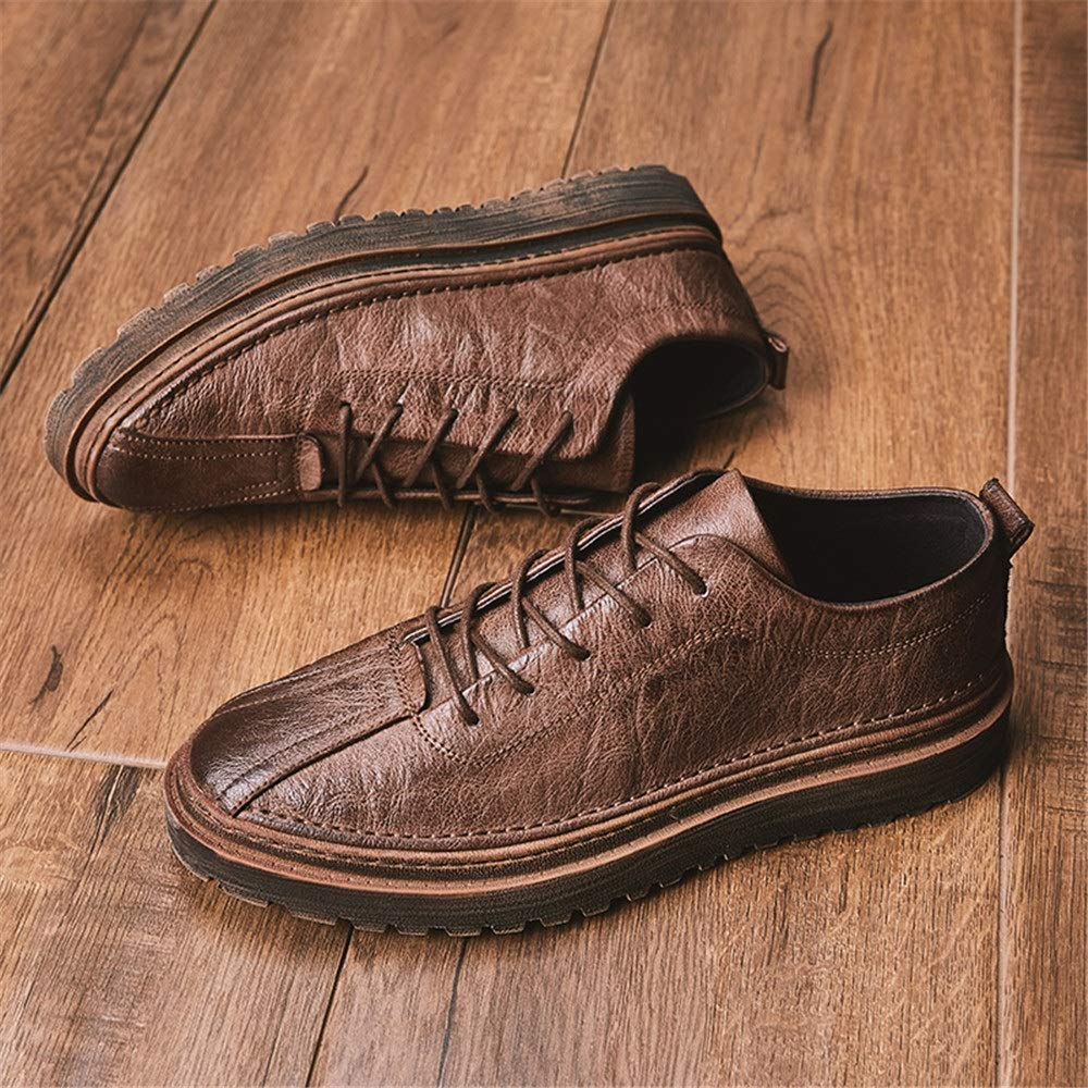 Fang schuhe, 2018 Herren Herbst Winter handgemachte Oxford Super Fiber Retro Business Oxford handgemachte Casual Fashion Formale Schuhe (Farbe : Khaki, Größe : 42 EU) Braun 726467