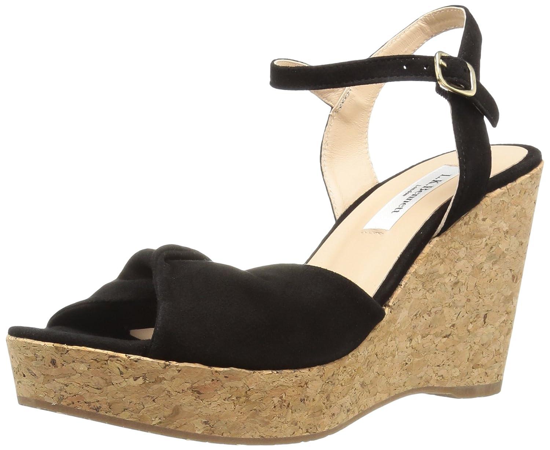 L.K. Bennett Women's Adeline Wedge Sandal B074JRBTFJ 41 Medium UK (10.5 US)|Bla-black