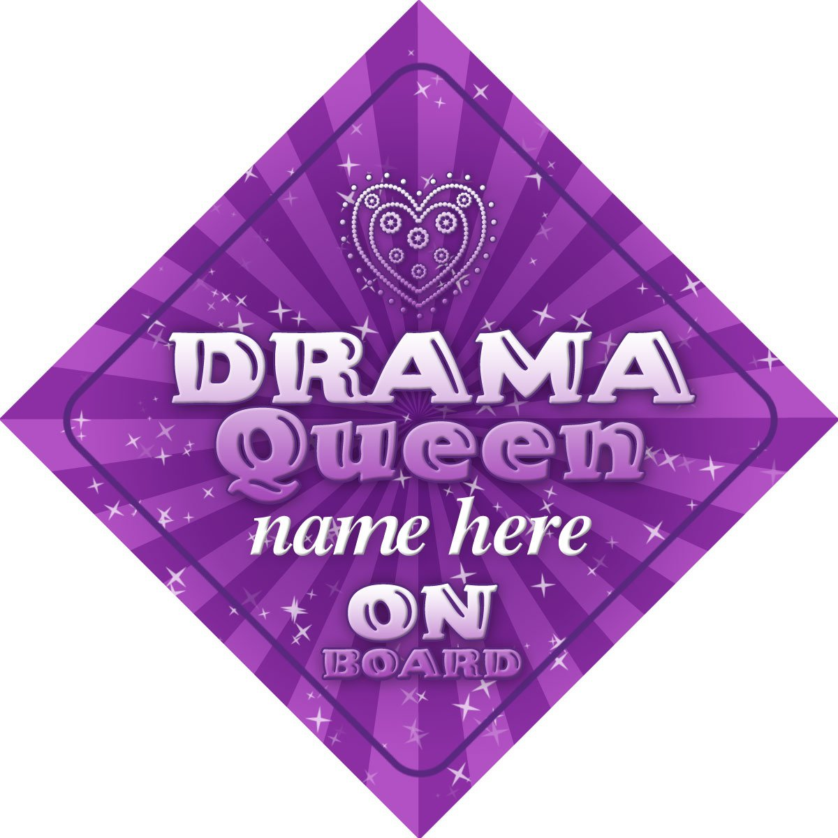 Drama Queen On Board Personalised Car Sign New Baby Girl / Child Gift / Present Quality Goods Ltd