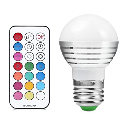Bombilla LED para reflector, E27 / E26 Regulable RGB 5Watts Lámpara Bombillas Led Coloridas Bombillas