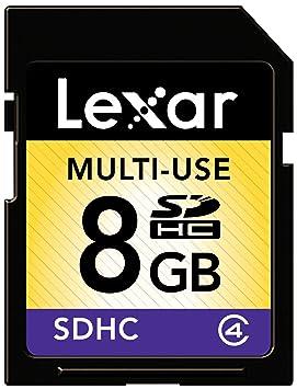 Lexar - Tarjeta de memoria SD HC 8 GB