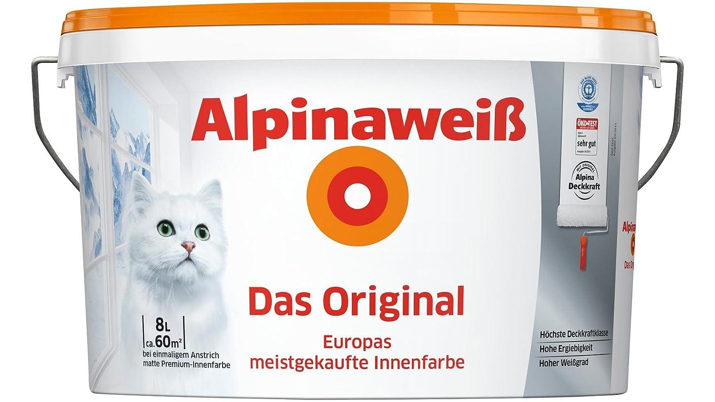 ALPINA Innenfarbe Das Original, Alpinaweiß 8L 8 l, weiß: Amazon.de ...
