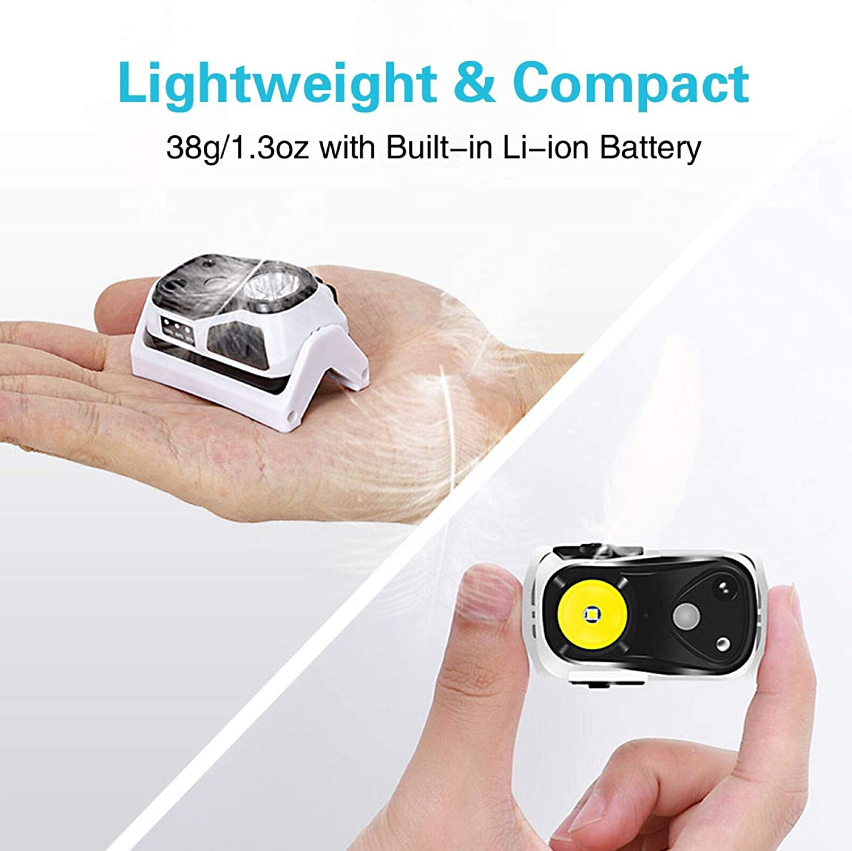 PE COB USB Rechargeable Headlight Flashlight Camping Night Fishing Light #K