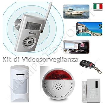 Kit videovigilancia Cámara 3 G Envía SMS y MMS Alarma Detector de movimiento y la temperatura: Amazon.es: Electrónica