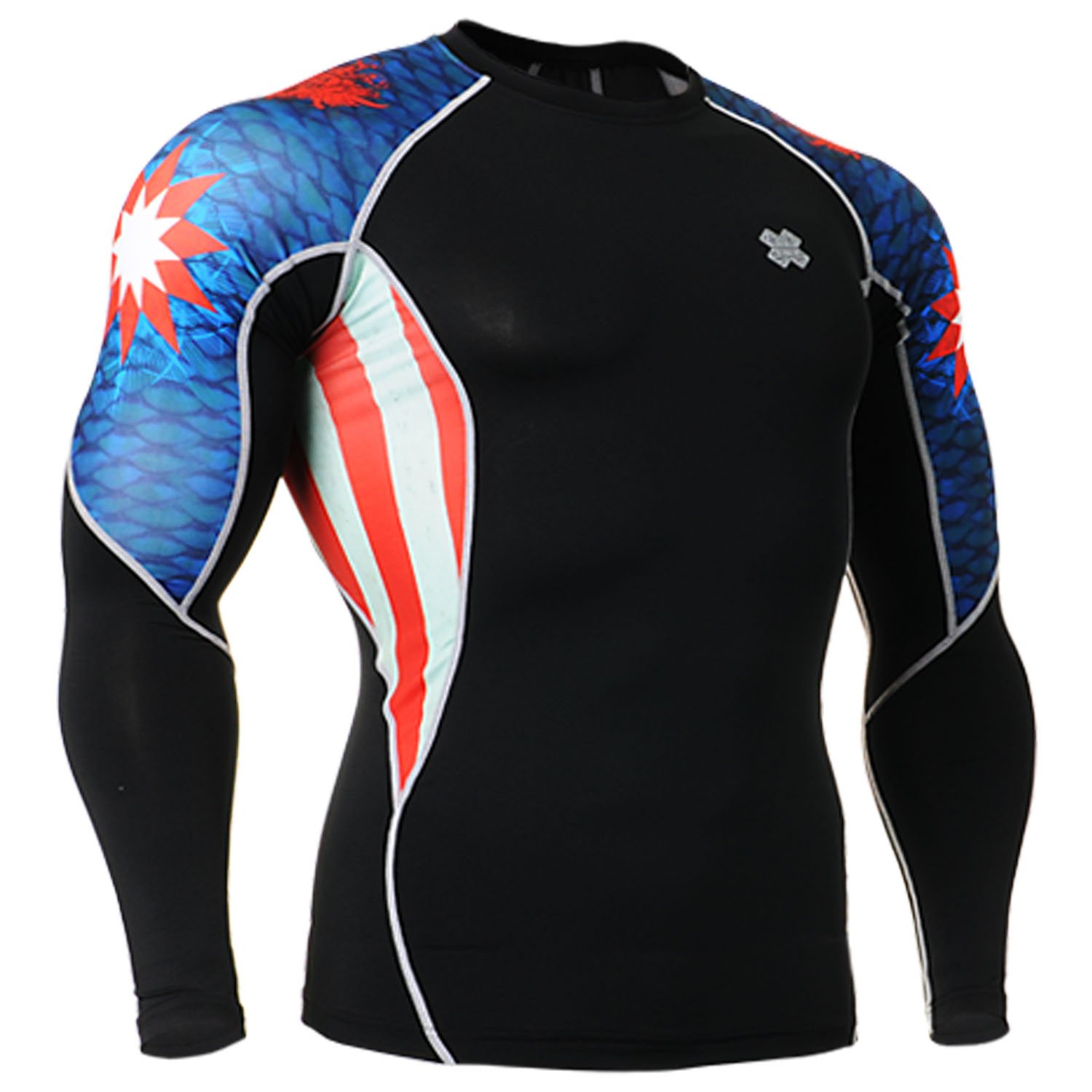 Fixgear Mens Womens Skin Running Shirt Compression Top Long Sleeve S