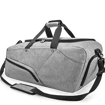 Amazon.com: Bolsa de deporte para gimnasio con compartimento ...
