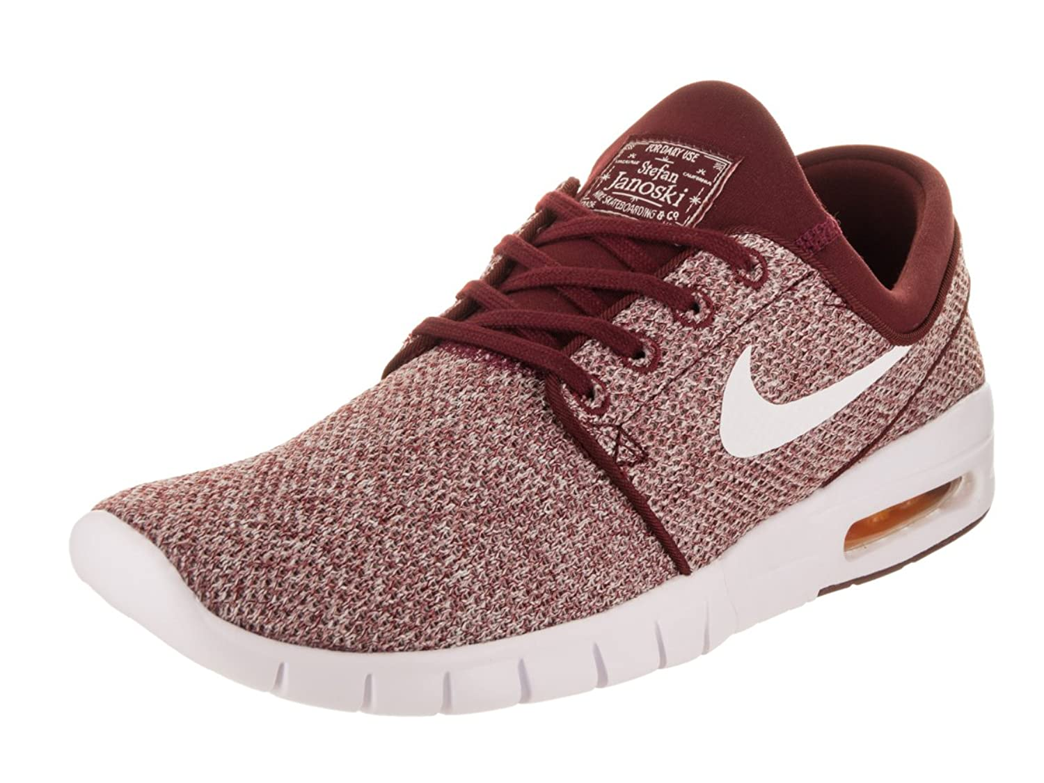 5240a617e189 Nike Men s Stefan Janoski Max Dark Team Red White Sneakers - 12 D(M