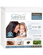 Queen Size SafeRest Premium Waterproof Lab Certified Bed Bug Proof Zippered Mattress Encasement (Fits 9 - 12 in. H) - Designed For Complete Bed Bug, Dust Mite and Fluid Protection