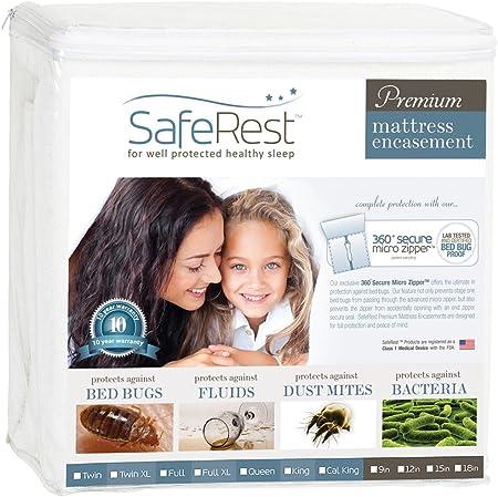"Sleep Safe Zip Cover SECURE Bedbug Allergy Mattress Encasement Protector King 9/"""