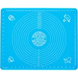LIMNUO Silicone Pastry Mat for Pastry Rolling with Measurements, Thick Non Stick Baking Mat with Measurement Fondant Mat, Cou