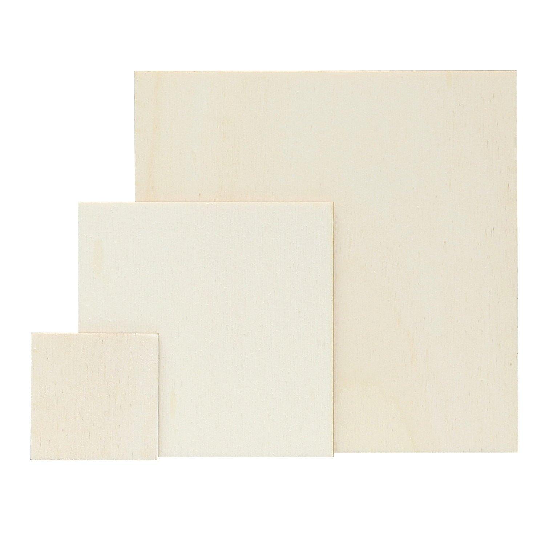 Homedeco-24–contrachapado–Cuadrados–Tamaño Selección–Álamo 3mm, Contrachapado, Quadrat 5 x 5 cm Bütic GmbH