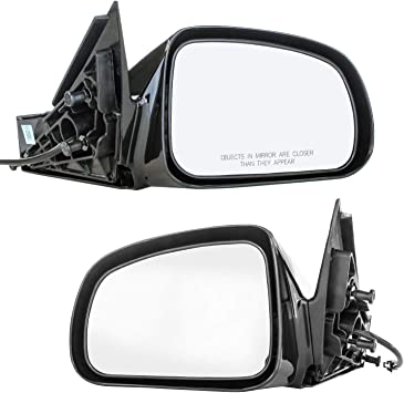Driver Side Mirror for Pontiac Grand Prix 2004 2005 2006 2007 2008 Black Power Adjusting Non-Heated Non-Folding Outside Rear View Replacement Left Door Mirror
