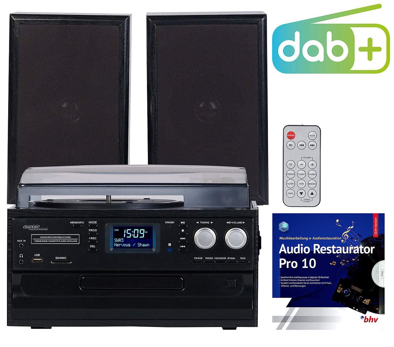 Auvisio - Tocadiscos 5 en 1 con Radio Dab+/FM, Bluetooth y ...