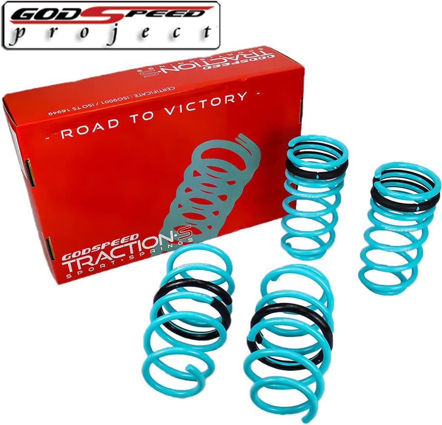 CP2 Godspeed LS-TS-HA-0004-A Traction-S Performance Lowering Springs For Honda Accord 2008-2012 All Models