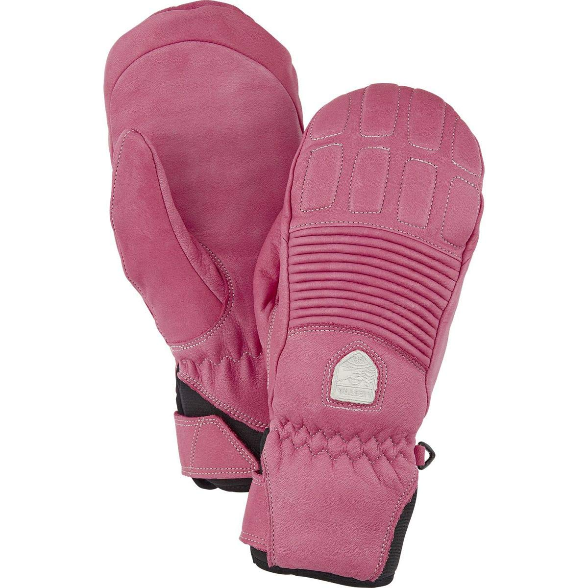 Hestra Leather Fall Line Mitten - Women's Cerise, 6 by Hestra (Image #2)