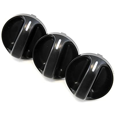 Set of 3 - Compatible with Toyota Tundra Truck 2000-2006 Control Knobs Dials Heater AC or Fan Replacement Full Air Conditioner: Automotive [5Bkhe1502299]