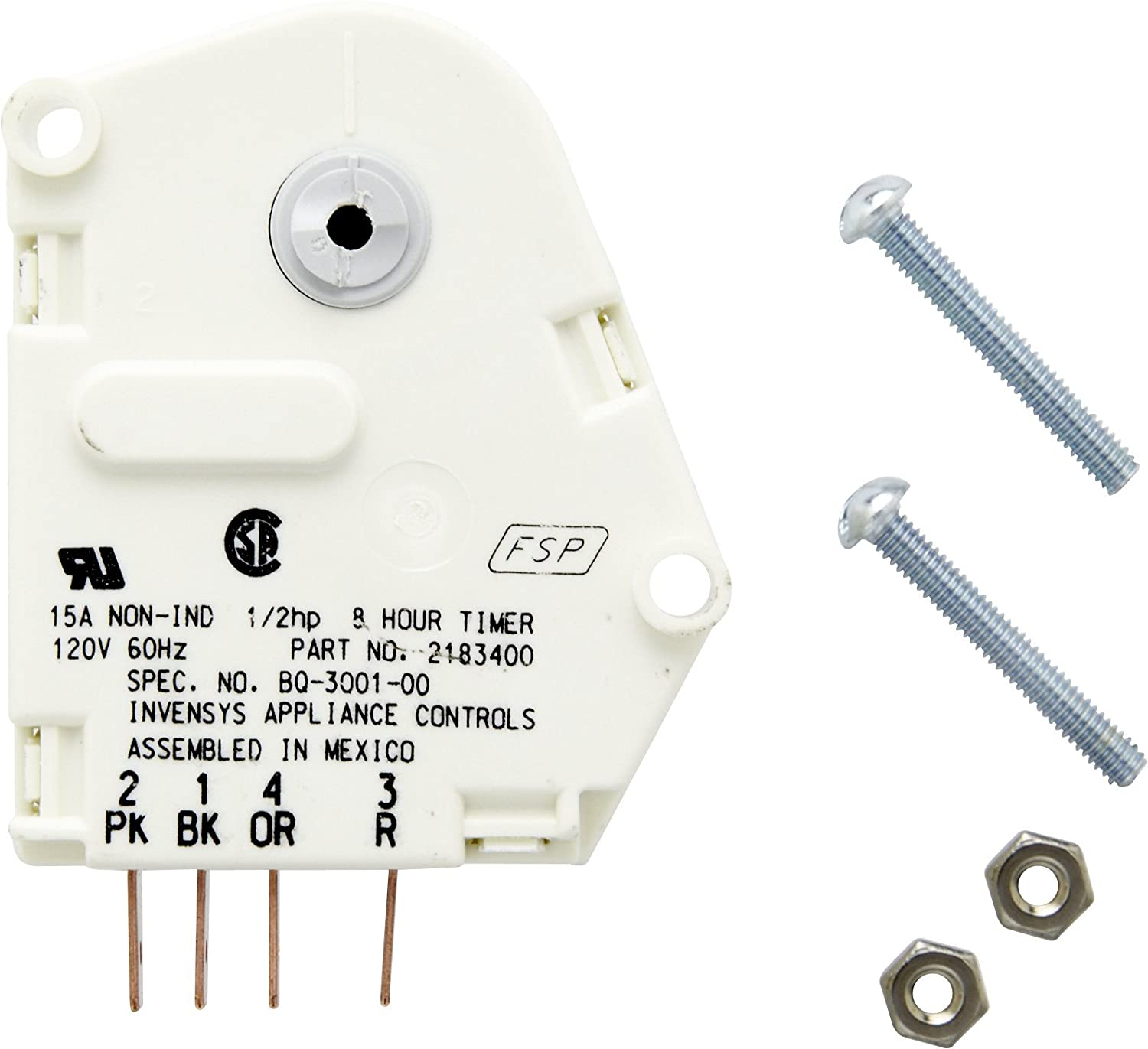 Whirlpool 2183400 Defrost Timer