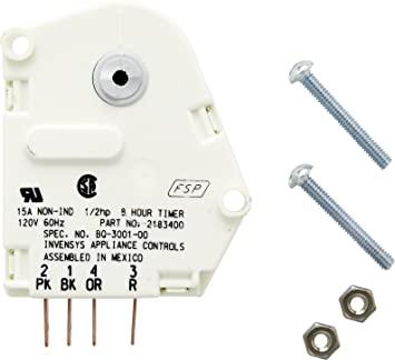 buy whirlpool 2183400 defrost timer online at low prices in whirlpool 2183400 defrost timer