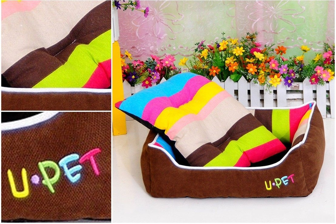 1Pc Transcendental Popular Pet Bed Size M Cat Mat Puppy Blanket PP Cotton Color Brown