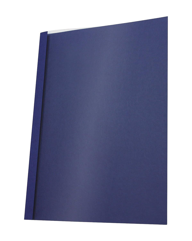 Pavo - Copertine per rilegatura a caldo, formato A4, larghezza dorso 6 mm per 41-60 fogli, 25 pz, colore: Blu Pavo Sales B.V 8011698