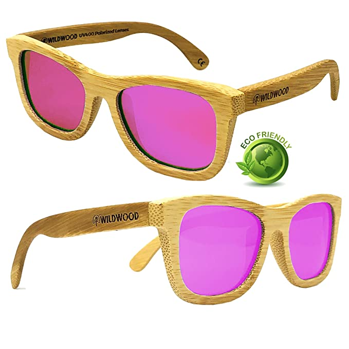 316ab26bd1 Youth Kids Wooden Sunglasses for Boys and Girls with Polarized Lenses