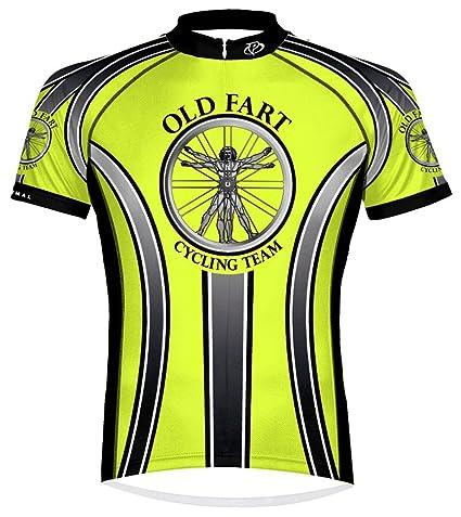 Primal Wear Old Fart Vitruvian Man Cycling Jersey Men s Medium High  Visibility dc133857f