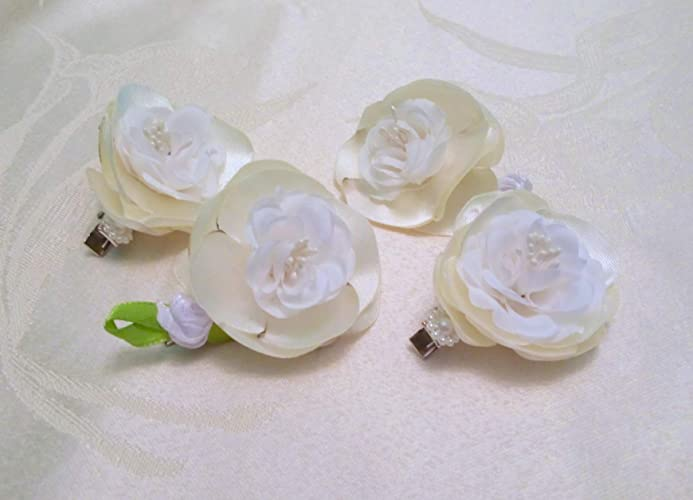 2c72c374f Image Unavailable. Image not available for. Color: Flowers Rose Hair Clip  ...