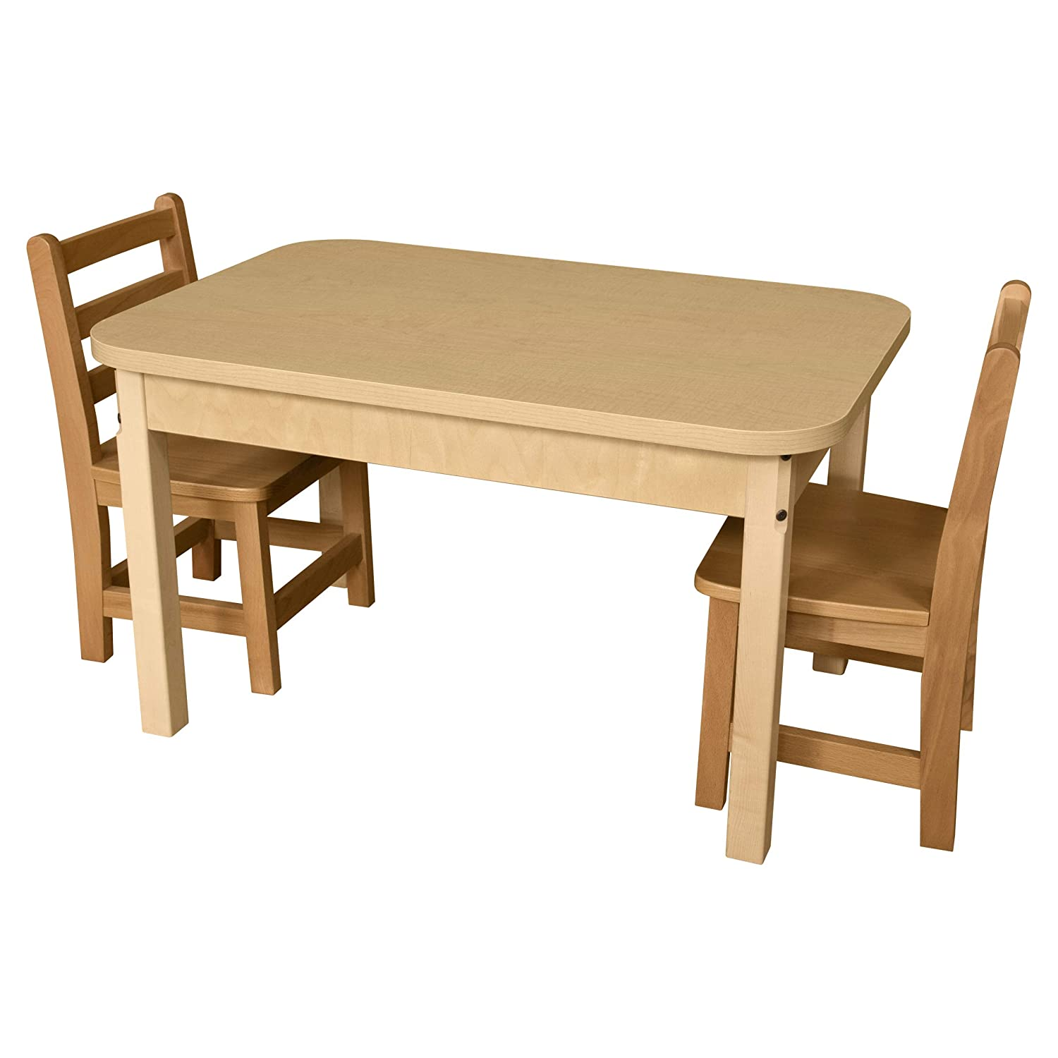 Wood Designs 24 x 36 Rectangle High Pressure Laminate Table with Hardwood Legs 29